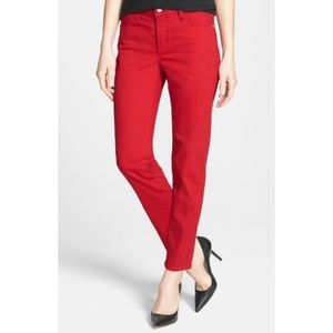 NYDJ Red Stretch Ankle Jeans size 12